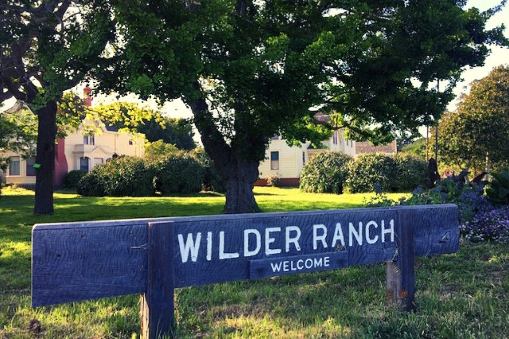 Wilder Ranch sign in front of the farm house