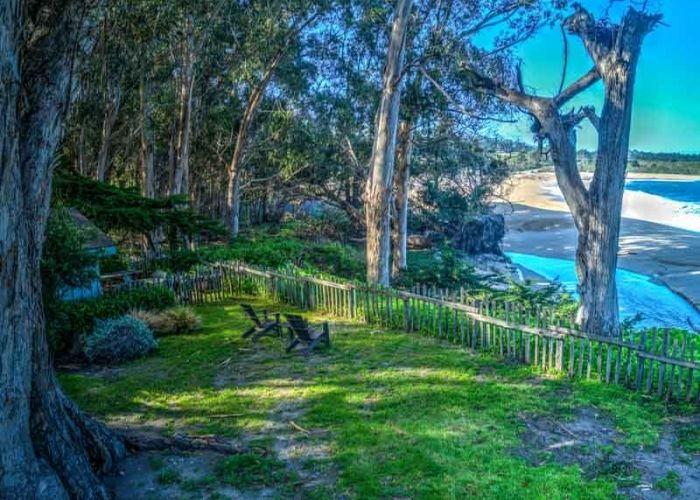Sea Otter Cottage Backyard